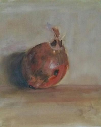 Ui, olieverf op canvas, 24x30 cm, 2020, €145,00