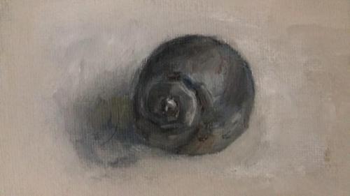 Zeeschelp, olieverf op canvas, 18 x 13 cm, 2020, € 95,00