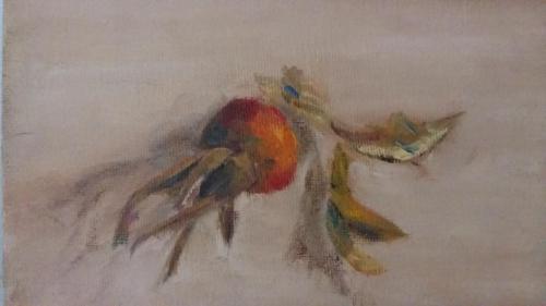 Rozenbomen, olieverf op canvas, 18 x 13 cm, 2020, € 95,00